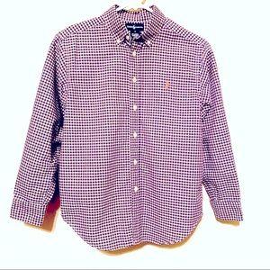 Ralph Lauren Boys Purple Gingham Shirt Medium
